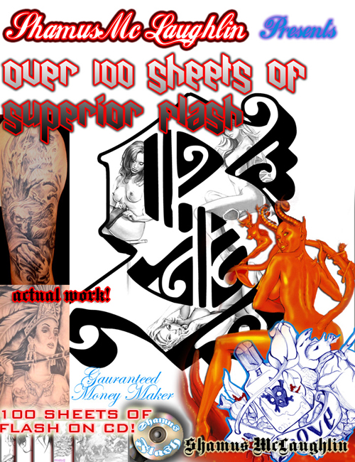 Shamus Mc Laughlin's 100 Sheet tattoo cd. Buy It Now $49.99